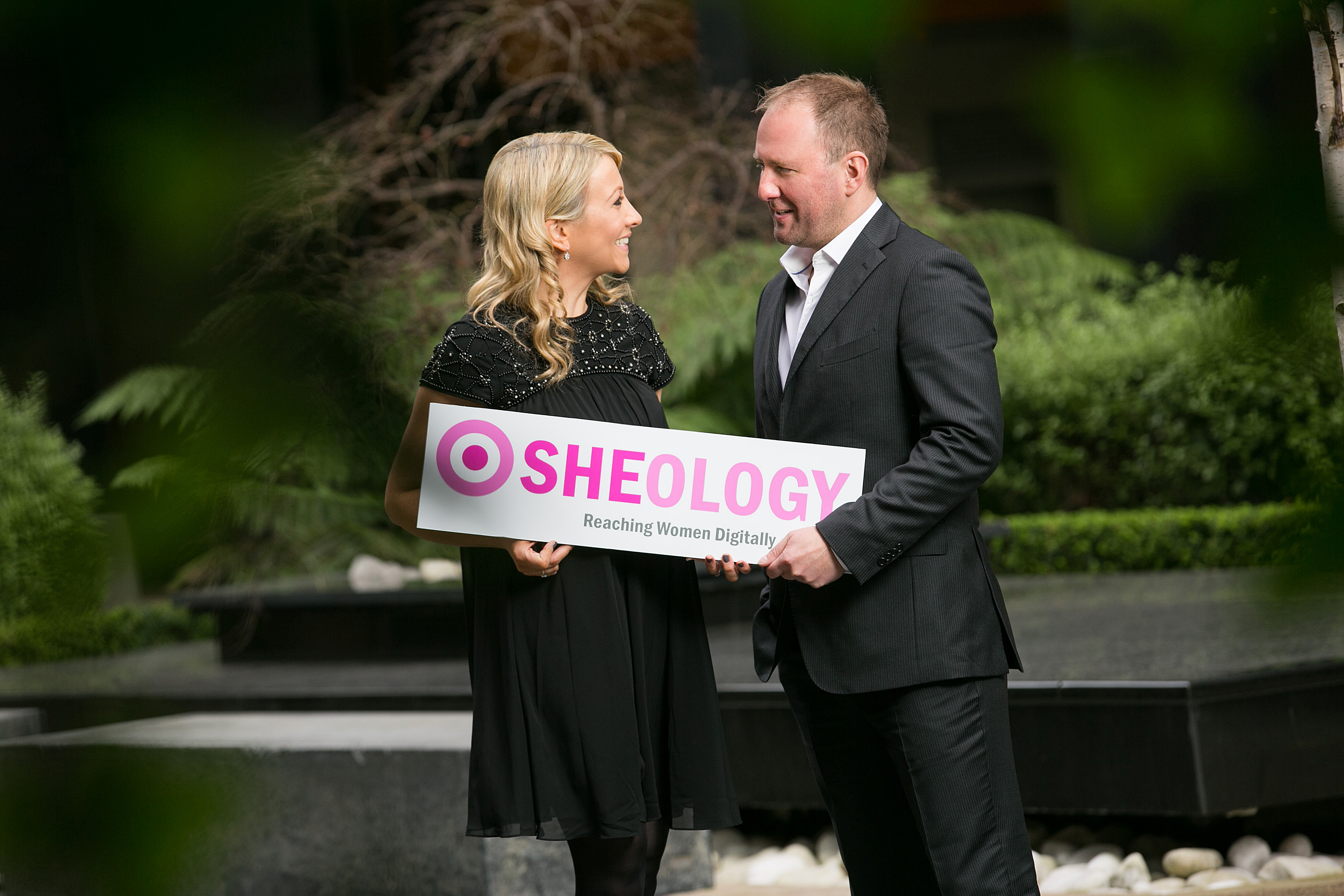 Sandra and Cormac McKenna, co-founders of Sheology Digital celebrate as the company announces the country's biggest pure digital female reach of 1,000,000 unique users per month. Sheology is home to three female Irish sites – MummyPages.ie, MagicMum.com, SHEmazing.net.