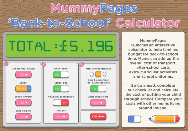 MummyPages 'Back-to-School' calculator